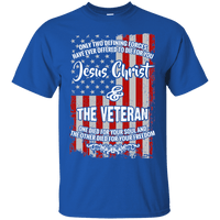 Jesus Christ & The Veteran (Ladies' Front Design)-Apparel-Our Lord Style