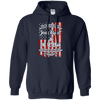 Jesus Christ & The Veteran Mens/Unisex Pullover Hoodie-Apparel-Our Lord Style