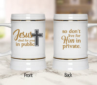 Jesus Died For You In Public Mugs/Cups - 60% OFF Now!-Apparel-Our Lord Style