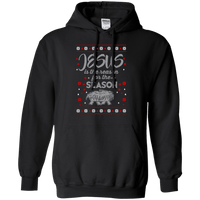 Jesus Is The Reason For The Season 2 Pullover Hoodie-Apparel-Our Lord Style
