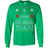 Jesus Is the Reason For The Season Long Sleeve Shirt-Apparel-Our Lord Style