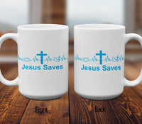 Jesus Saves Mugs/Cups - 60% OFF Now!-Apparel-Our Lord Style