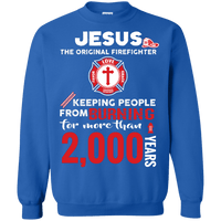 Jesus The Original Firefighter! (Tees, Hoodies, LS Tees, Sweats)-Apparel-Our Lord Style