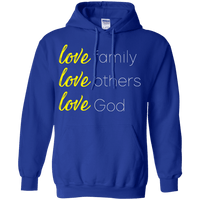Love Family Love Others Love God Pullover Hoodie-Apparel-Our Lord Style