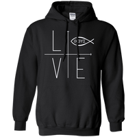 Love Icthus Pullover Hoodie-Apparel-Our Lord Style
