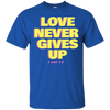 Love Never Gives Up (I Cor 13) Cotton Shirt-Apparel-Our Lord Style