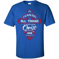 Philippians 4:13 Cotton Shirt (Front Design)-Apparel-Our Lord Style