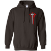 Philippians 4:13 Pullover Hoodie (Chest Design)-Apparel-Our Lord Style