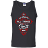 Phillipians 4:13 Tank Tops (Front Design)-Apparel-Our Lord Style