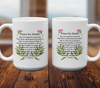 Prayer For Family Mugs/Cups - 60% OFF Now!-Apparel-Our Lord Style