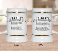 Ribbon Bible Emergency Numbers Mugs/Cups - 60% OFF Now!-Drinkware-Our Lord Style