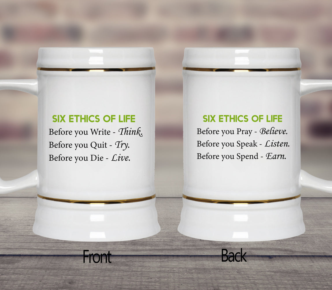 six ethics of life mugs cups 60 off now our lord style