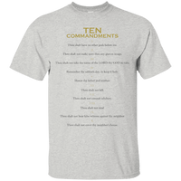 Ten Commandments Cotton Shirt-Apparel-Our Lord Style