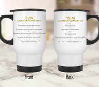Ten Commandments Mugs/Cups - 60% OFF Now!-Drinkware-Our Lord Style