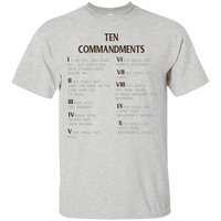 Ten Commandments V2 Cotton Shirt-Apparel-Our Lord Style