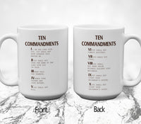Ten Commandments V3 Mugs/Cups - 60% OFF Now!-Drinkware-Our Lord Style