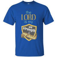 The Lord Is My Strength & My Shield Cotton Shirt-Apparel-Our Lord Style