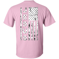 United States Of Jesus Cotton Shirt (Back Design)-Short Sleeve-Our Lord Style
