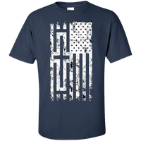 United States Of The Cross Cotton Shirt (Front Design)-Apparel-Our Lord Style