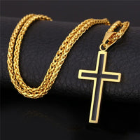 Unwavering Faith Stainless Steel Cross Necklace-JEWELRY-Our Lord Style