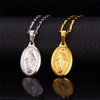 Virgin Mary Stainless Steel Necklace-JEWELRY-Our Lord Style