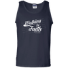 Walking By Faith Not By Sight (11 Cor 5:8-9) Cotton Tank Top-Apparel-Our Lord Style