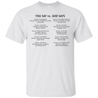 You Say God Says V3 Cotton Shirt-Apparel-Our Lord Style