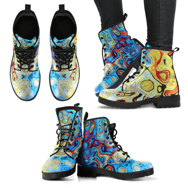 Women's Leather Boots Burst of Color