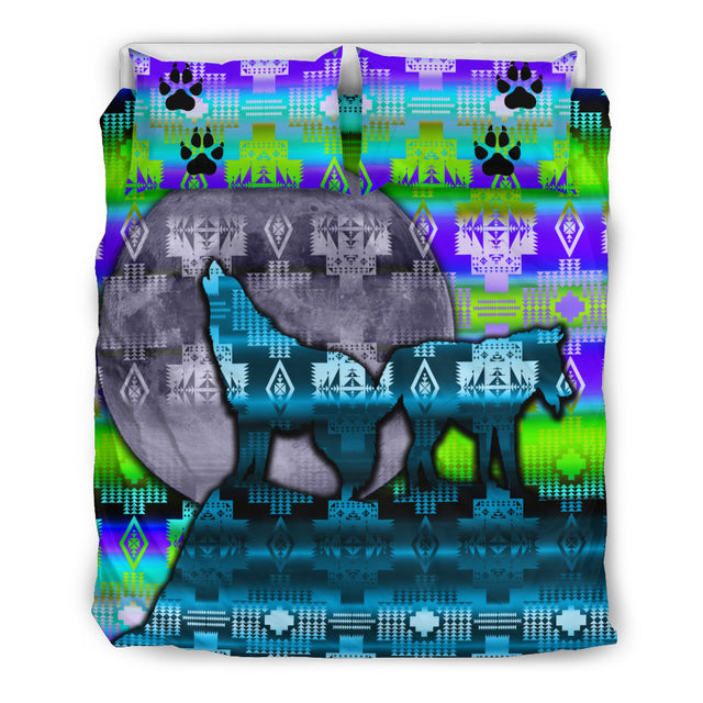 Wolves Howling Bedding Set