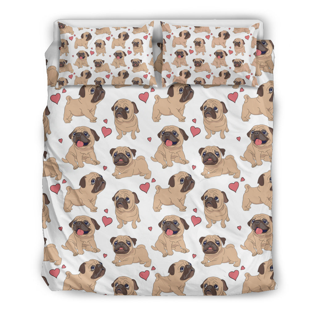 CUTE PUG BEDDING SET
