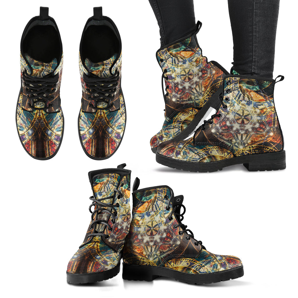 Sacred Geometry Handcrafted Boots