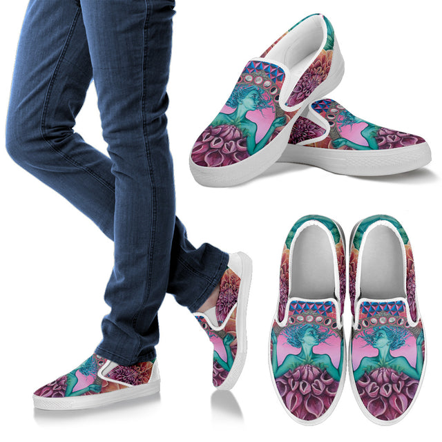 The Gate Of Knowledge Women's Slip Ons