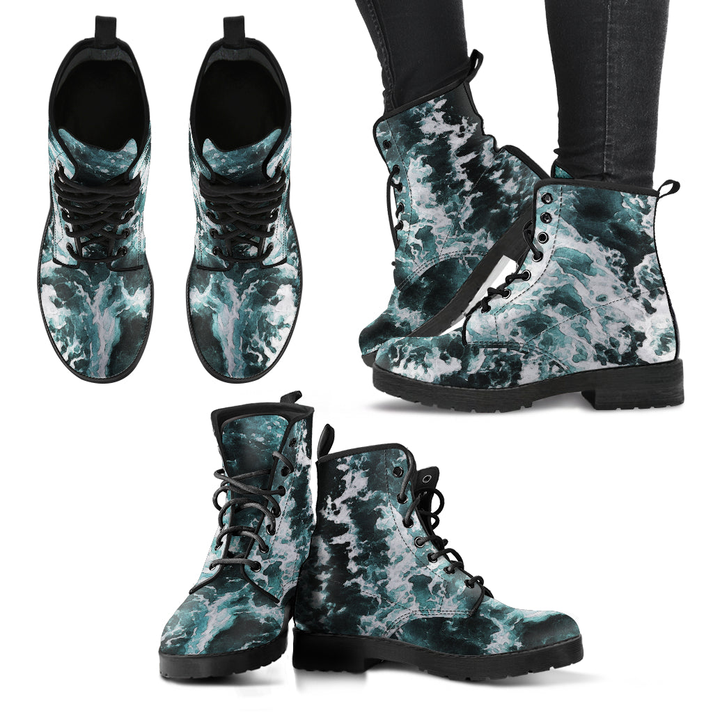 Women's Leather Boots Murky Depths