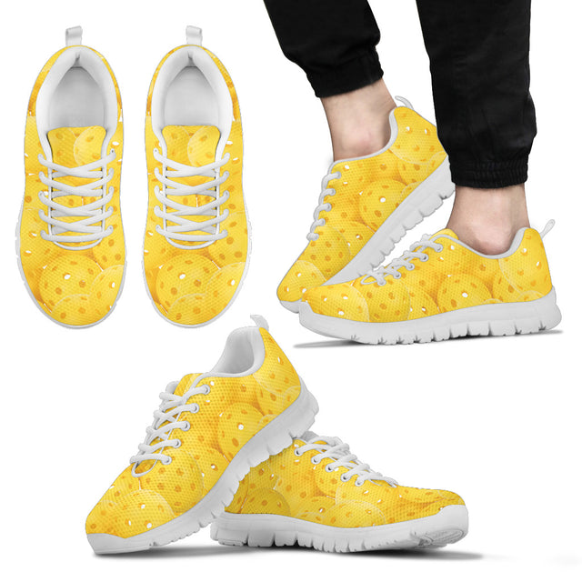 Yellow Pickleballs Men's Sneakers