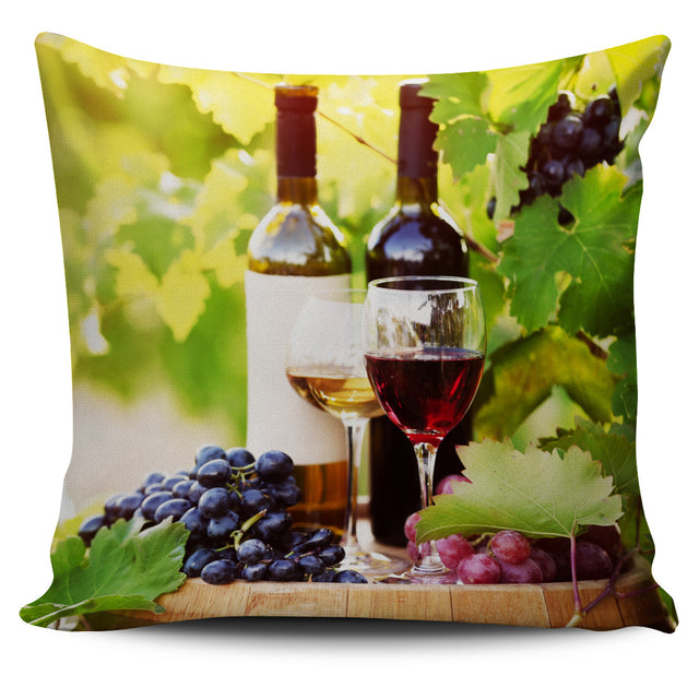 Wine Pillow Cover