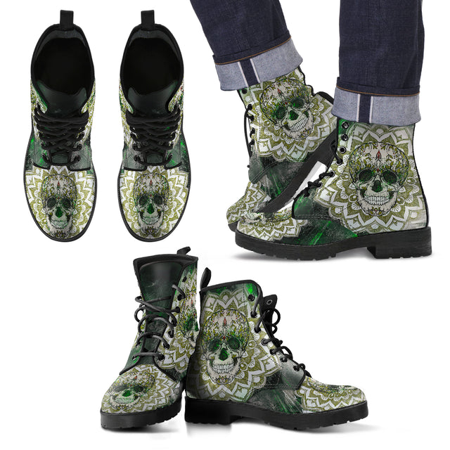 Skull Of Life Men's Leather Boots