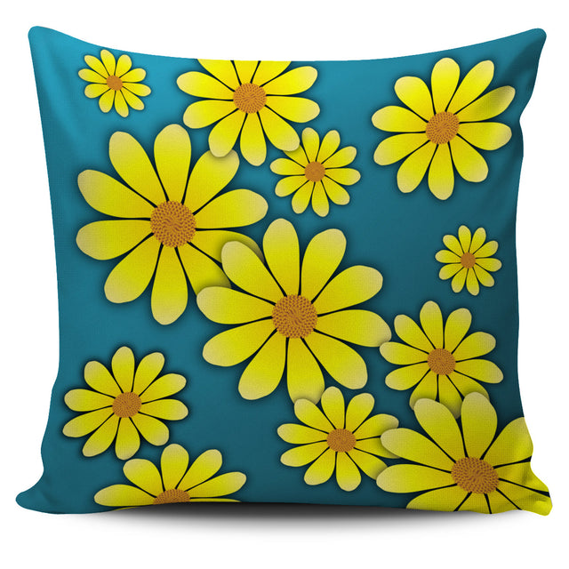 Yellow  Flower Pillow Cover