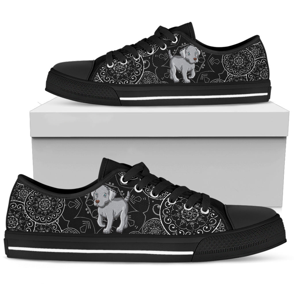 Weimaraner Women's Low Top Shoe