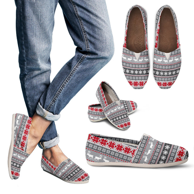 Women's Casual Shoes-Reindeer Themed