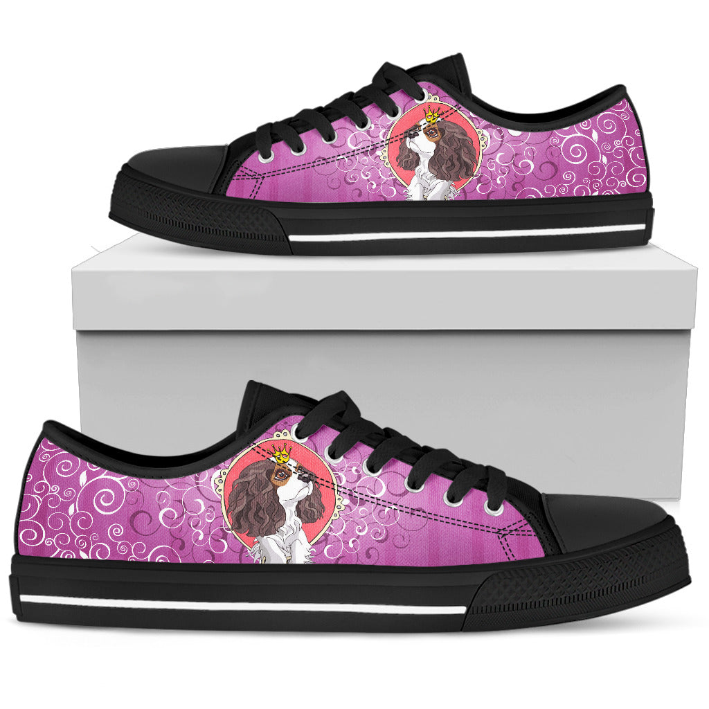 Cocker Spaniel queen Women's Low Top Shoe