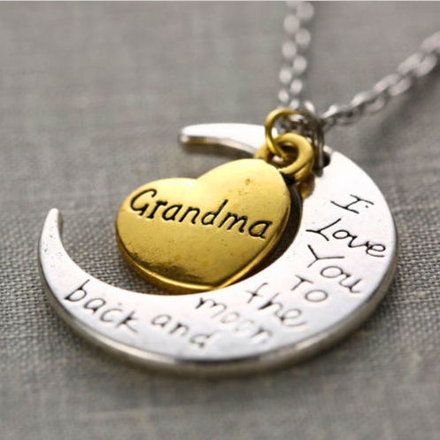 Grandma Moon and Back Necklace-Offer