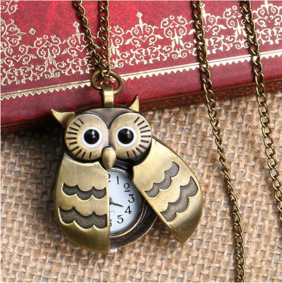 Lovely Owl Fob Watch Necklace For Nurse-Offer