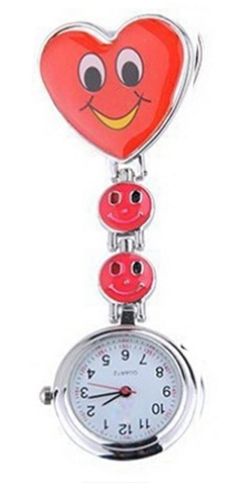 Heart Clip On Pendant Nurse FOB Brooch Pocket Watch-Offer