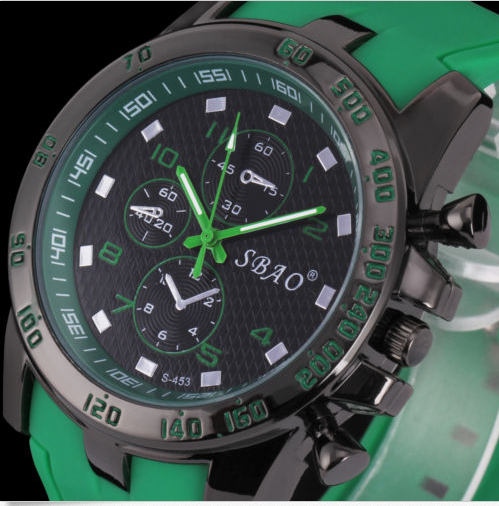 Men's Silicone Quartz Analog Sport Wrist Watch-Offer