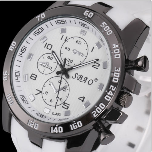 Men's Silicone Quartz Analog Sport Wrist Watch