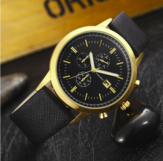 Luxury Leather Strap Casual Sports Waterproof Wristwatch-Giveaway!!!