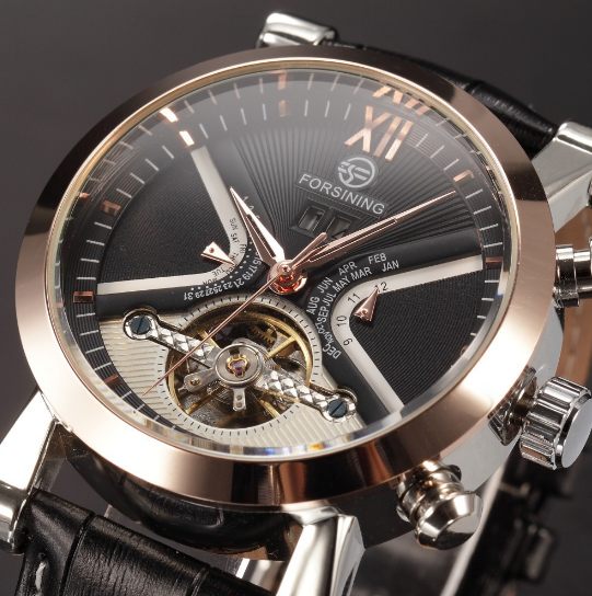 FORSINING New Series Rome Flywheel Automatic Mechanical Watches!