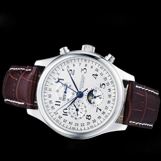 Luxury Brand GUANQIN  Tourbillon Automatic Mechanical Leather Watch!
