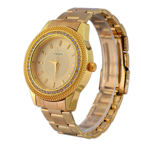 Diamond Dial Turntable Unisex Stainless/ Woven Band Quartz Wristwatch-Offer