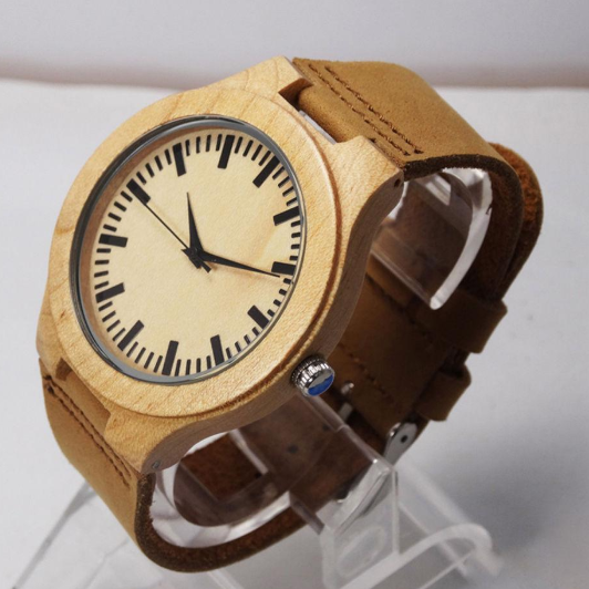 Top Gift Item Wood Hand-made Quartz Watch!